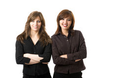 Young business women smiling Stock Photo