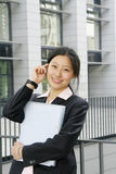 Young business women woth file Stock Photography