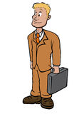 Young businessman royalty free illustration