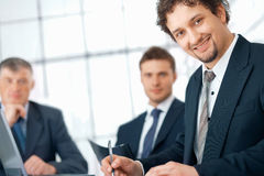 Young Businessman. royalty free stock images