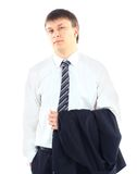 Young businessman. Portrait of a young businessman isolated on white background Royalty Free Stock Photo