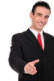 Young Businessman. Businessman Ready to Shake Hands Stock Photo