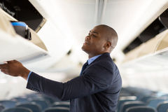 Young businessman airplane Royalty Free Stock Photography