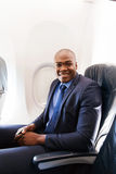 Young businessman airplane Royalty Free Stock Photo