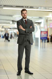Young Businessman at the airport Stock Photos