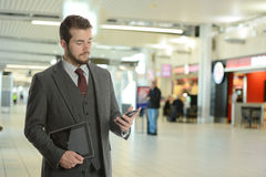 Young Businessman at the airport Stock Photography
