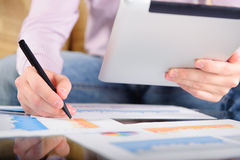 Young businessman analyzing charts Stock Image