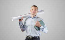 Young businessman architect Royalty Free Stock Image