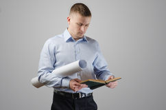 Young businessman architect Royalty Free Stock Images