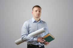 Young businessman architect Stock Photos