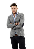 Young businessman with arms folded Royalty Free Stock Photography