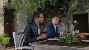 Young businessman attempts to wine stock video