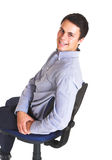 Young businessman in blue Royalty Free Stock Photo