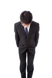 Young businessman with a bow Royalty Free Stock Image
