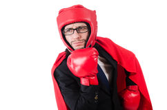 Young businessman boxer Royalty Free Stock Photo