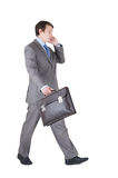 Young businessman with briefcase Stock Photography