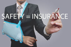 Young businessman with broken hand Stock Photos