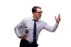 The young businessman in business concept isolated on white Royalty Free Stock Image