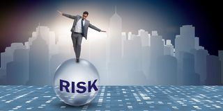 The young businessman in business risk and uncertainty concept Royalty Free Stock Photography