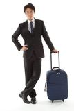 Young businessman on a business trip Royalty Free Stock Images