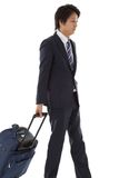 Young businessman on a business trip Royalty Free Stock Photo
