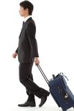 Young businessman on a business trip Royalty Free Stock Photos