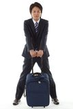 Young businessman on a business trip Royalty Free Stock Image