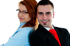 Young businessman and businesswoman Royalty Free Stock Image