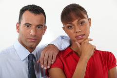 Young businessman and businesswoman Stock Photography