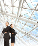 Young businessman and businesswoman Stock Image
