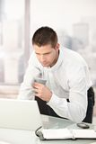 Young businessman busy by working Royalty Free Stock Photos