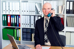 Young businessman is calling Stock Images