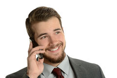Young Businessman on the cell phone Stock Photography