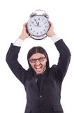 Young businessman with clock Stock Image