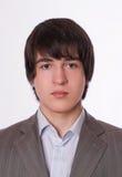 Young Businessman Close-up Portrait Stock Photo