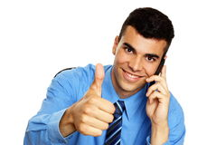Young businessman colling Stock Photo