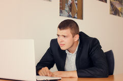 Young businessman with a concerned look Royalty Free Stock Photography