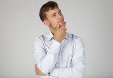 Young businessman concerned about some issue Stock Photos