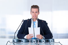 Young Businessman In Conference Stock Photos