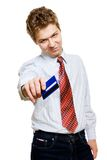 Young businessman with credit card Stock Images