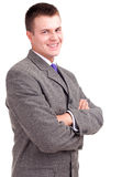 Young businessman with crossed arms Stock Images