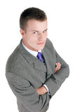 Young businessman with crossed arms Stock Image