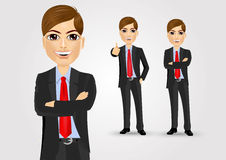 Young businessman with crossed arms Royalty Free Stock Photography