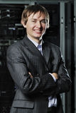 Young businessman in data-center Stock Images