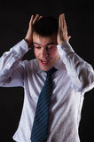 Young businessman in depression Stock Images