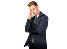 Young businessman in despair Royalty Free Stock Photo