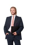 Young businessman with digital touch tablet Stock Photo