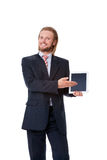 Young businessman with digital touch tablet Stock Photos
