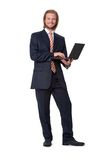Young businessman with digital touch tablet Royalty Free Stock Photos