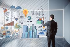 Success and idea concept royalty free stock images